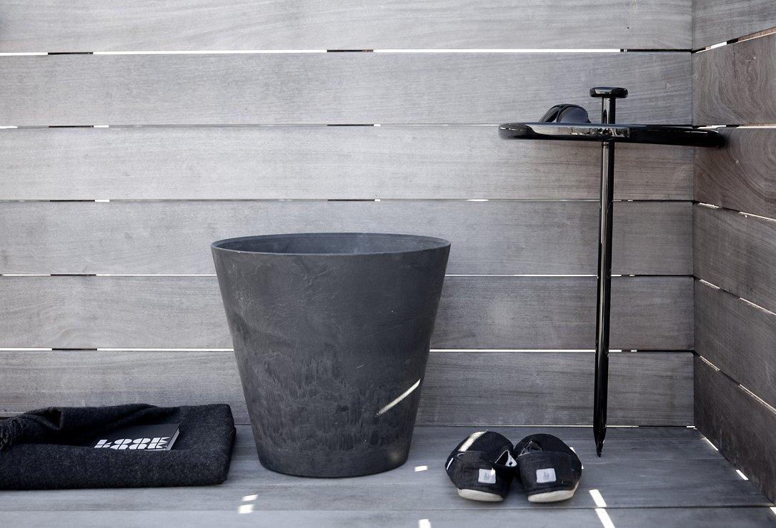 Menu Beistelltisch Pin Table 40cm Holz schwarz - Pic 3