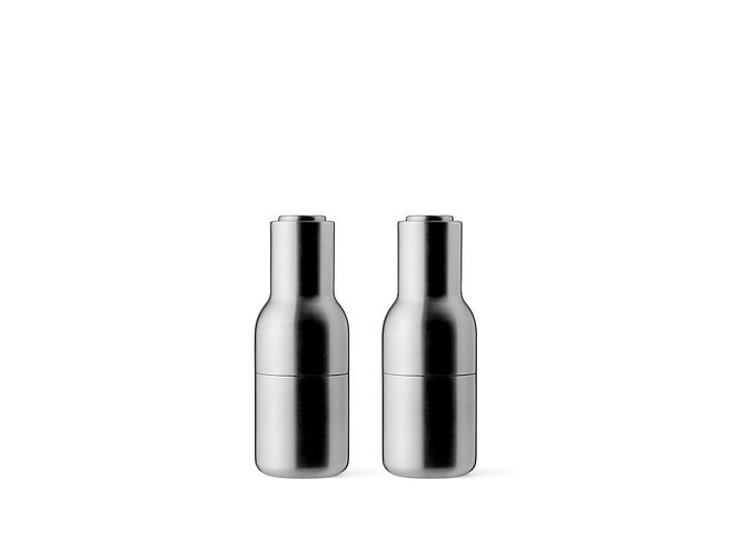 menu salz und pfefferm hle bottle grinder 2er set edelstahl geb rstet kaufen. Black Bedroom Furniture Sets. Home Design Ideas