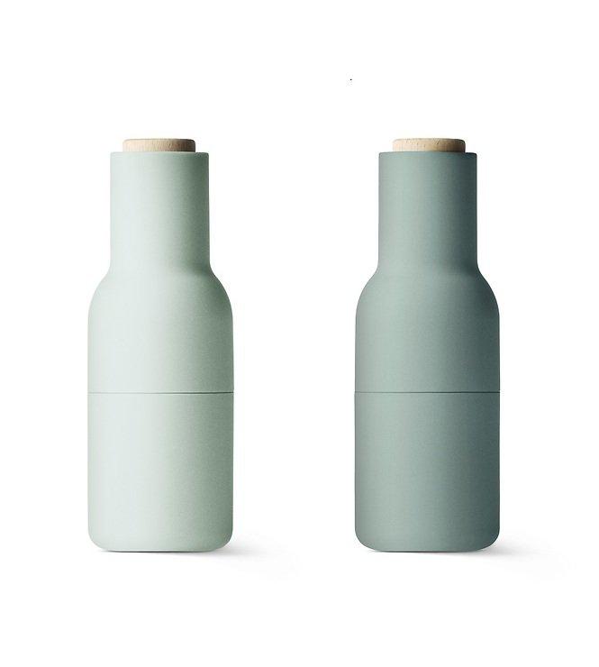 menu salz und pfefferm hle bottle grinder 2er set moosgr n kaufen. Black Bedroom Furniture Sets. Home Design Ideas
