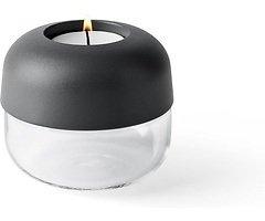 Menu Teelichthalter Show 2er Set 9 x 8cm Stahl carbon
