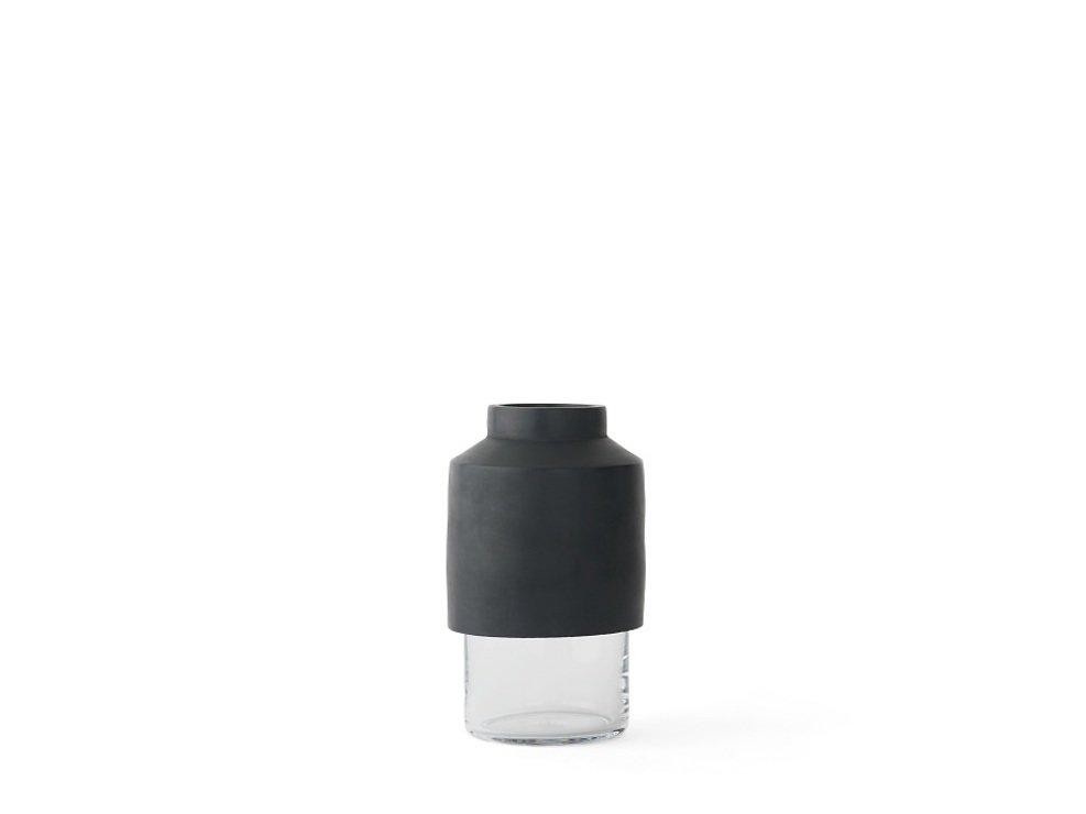 Menu Vase Willmann Glas 12 x 20cm Beton dunkelgrau - Pic 1
