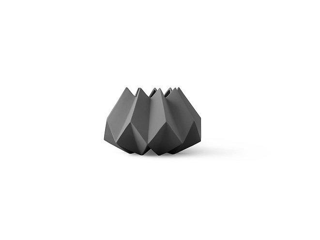 Menu Vase Folded 22 x 15cm Keramik carbon