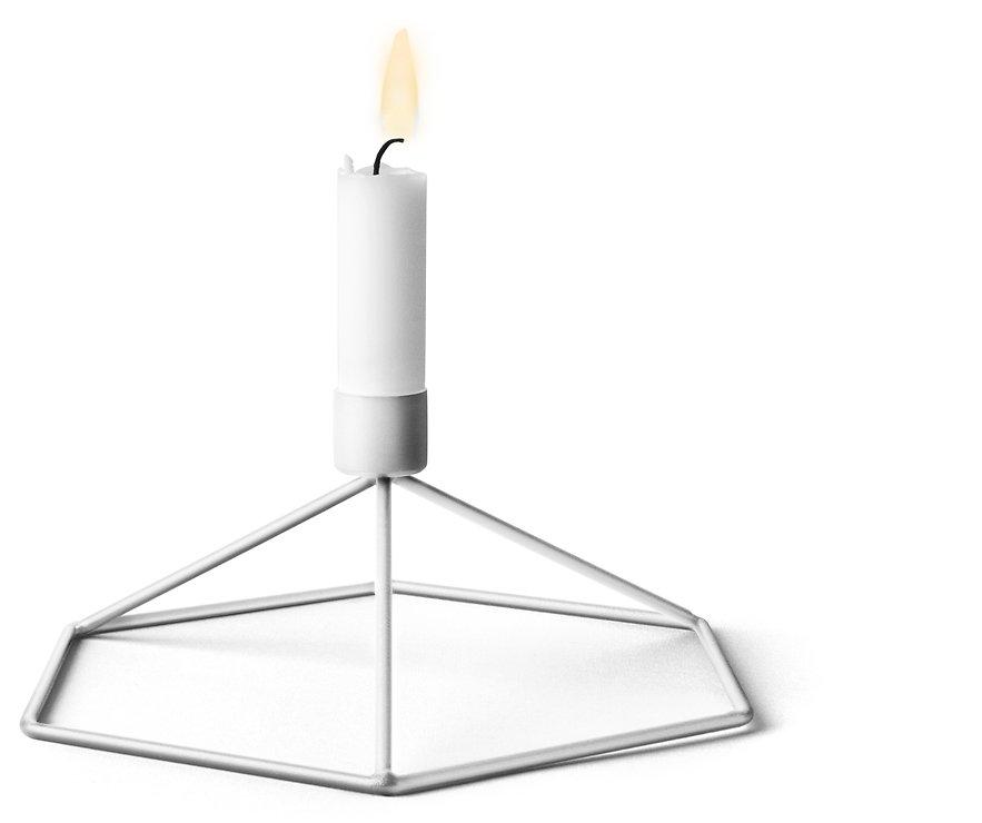 Menu POV Tisch-Kerzenhalter Stahl weiß - Pic 1