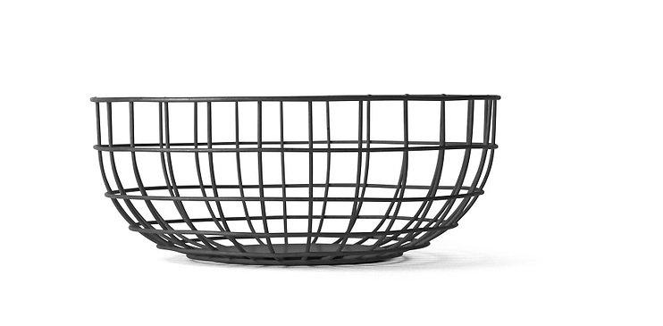 Menu Drahtkorb Wire Bowl 25 x 10 schwarz