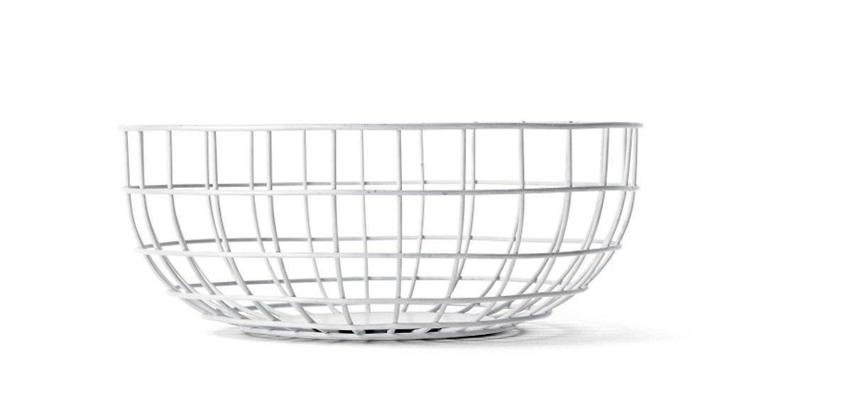 Menu Drahtkorb Wire Bowl 25 x 10cm weiß - Pic 1
