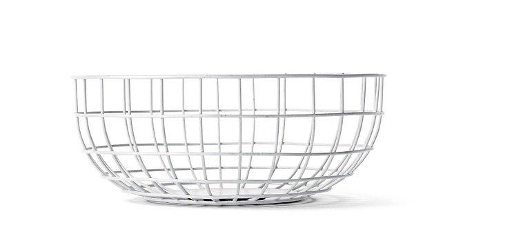 Menu Drahtkorb Wire Bowl 25 x 10cm weiß