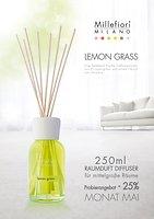 Millefiori Diffuser Lemongrass mit Bambusstäbchen 250ml