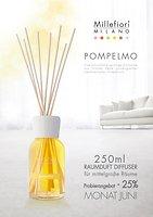 Millefiori Diffuser Pompelmo mit Bambusstäbchen 250ml