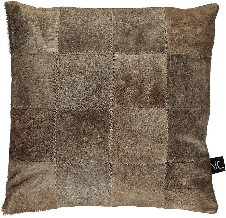 Natures Collection Kissen Brasilianisches Kuhfell 40 x 40 cm beige champagne - Pic 2