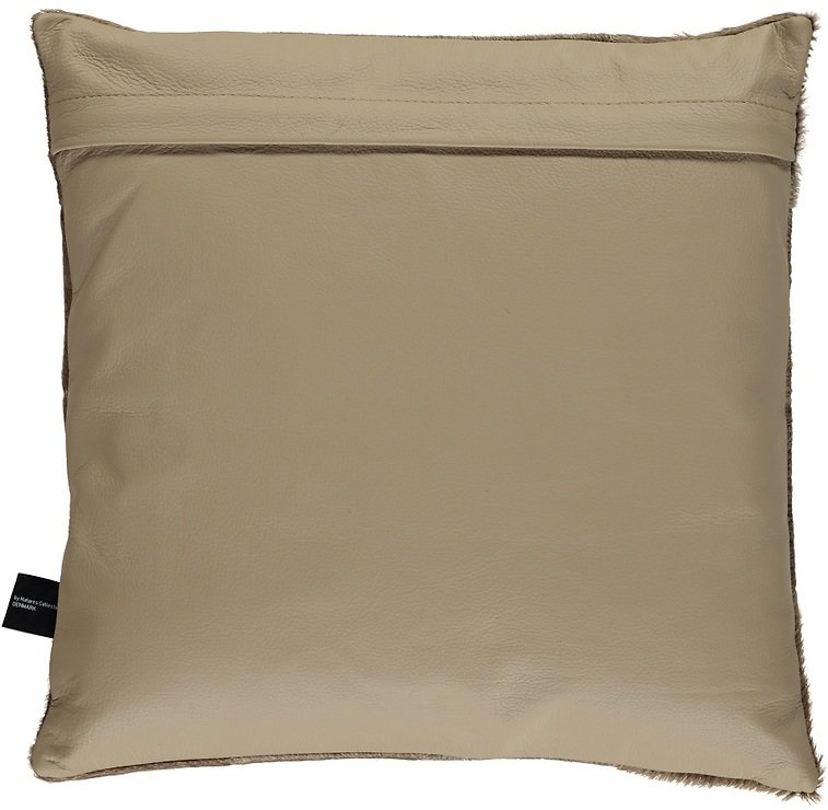Natures Collection Kissen Brasilianisches Kuhfell 40 x 40 cm beige champagne - Pic 1