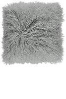 Natures Collection Kissen Tibetisches Schaffell 40 x 40 cm light grey