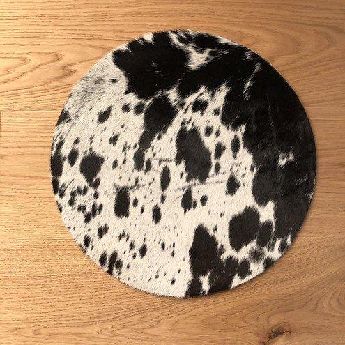 Natures Collection Sitzauflage Premium Kuhfell 37cm schwarz