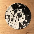 Natures Collection Sitzauflage Premium Kuhfell 37cm schwarz - Thumbnail 1