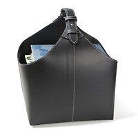 Orskov Zeitschriftenkorb Leder 34 x 17 x 31 cm schwarz