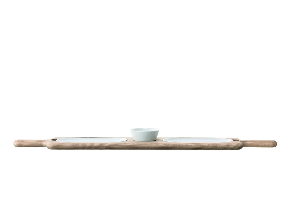 LSA Servierplatte Paddle Porzellan/Esche 74cm - Pic 1