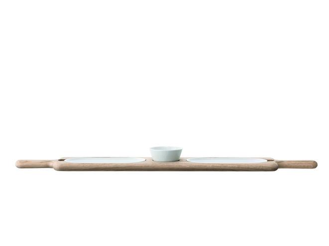 LSA Servierplatte Paddle Porzellan/Esche 74cm
