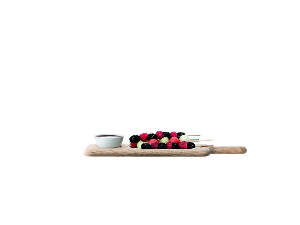 LSA Servierplatte Paddle Porzellan/Esche 43,5cm - Pic 3