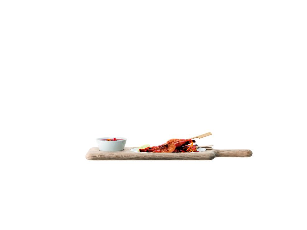 LSA Servierplatte Paddle Porzellan/Esche 43,5cm - Pic 2