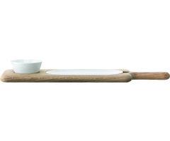 LSA Servierplatte Paddle Porzellan/Esche 43,5cm
