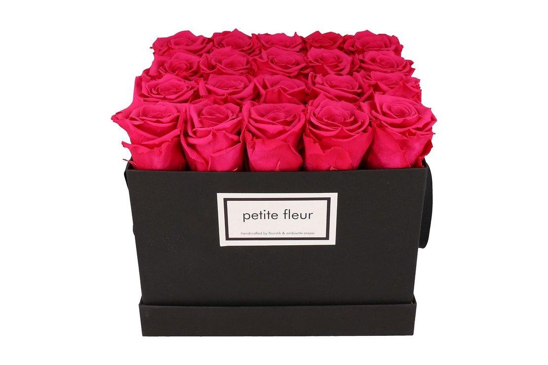 Petite Fleur Flowerbox Infinity Rosen L quadratisch in Dunkel Pink mit 20-25 Rosen - Pic 3