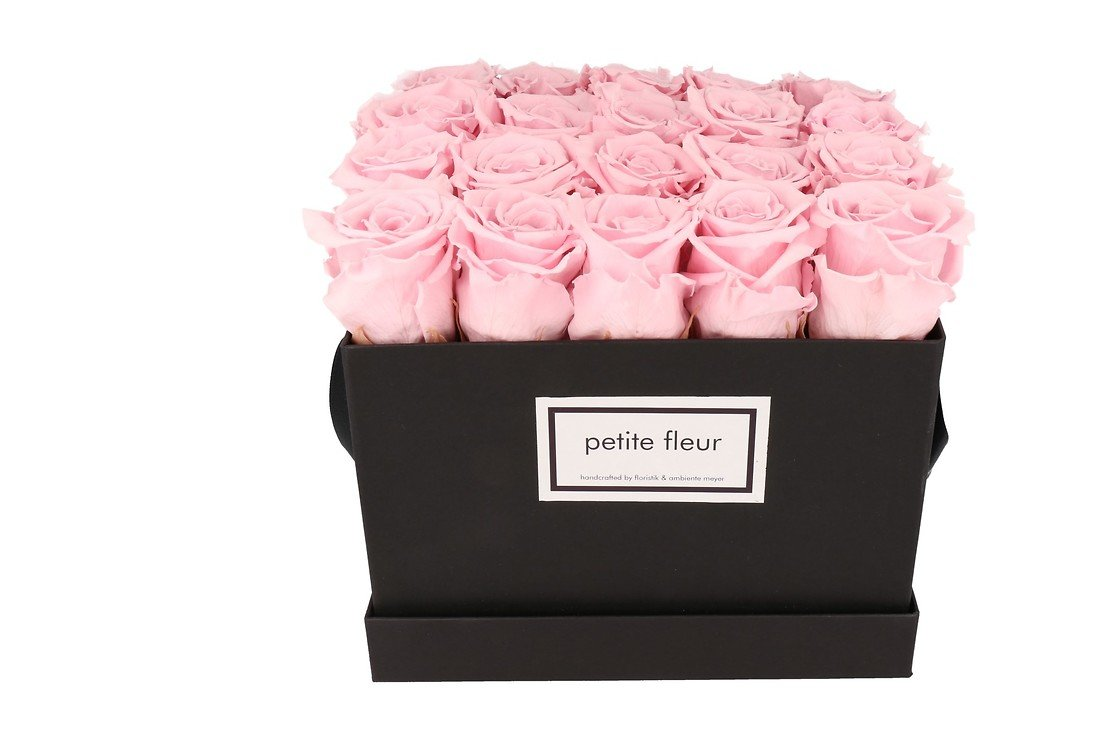 Petite Fleur Flowerbox Infinity Rosen L quadratisch in Rosa mit 20-25 Rosen - Pic 3