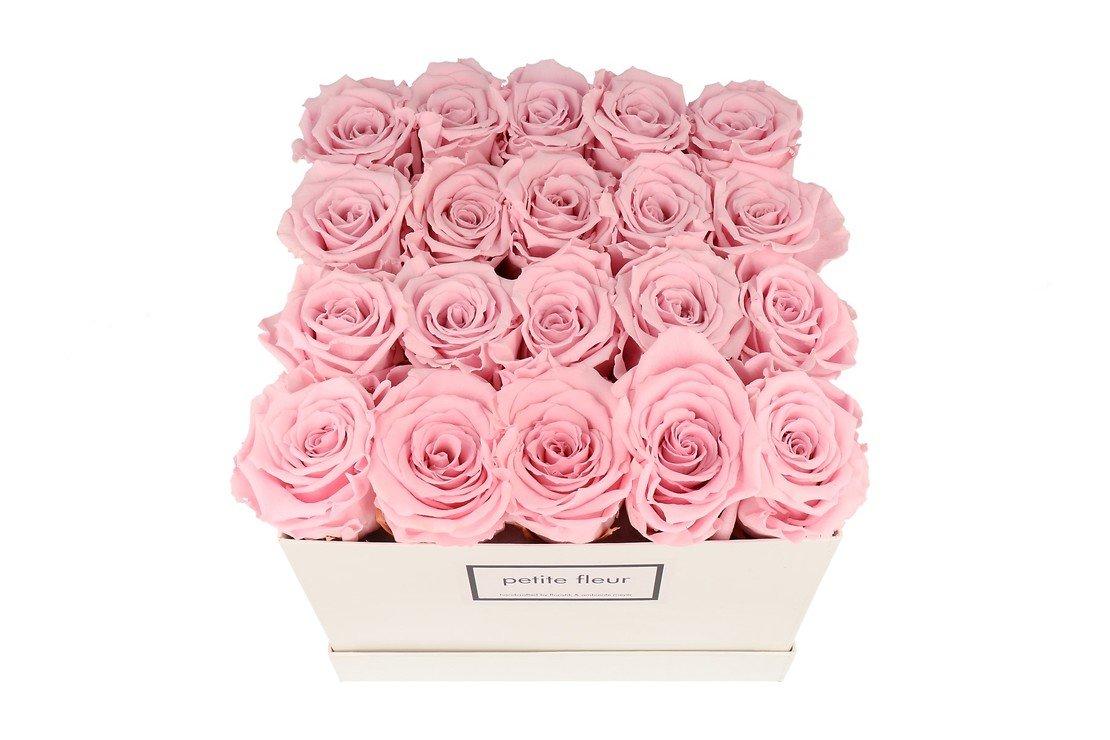 Petite Fleur Flowerbox Infinity Rosen L quadratisch in Rosa mit 20-25 Rosen - Pic 2