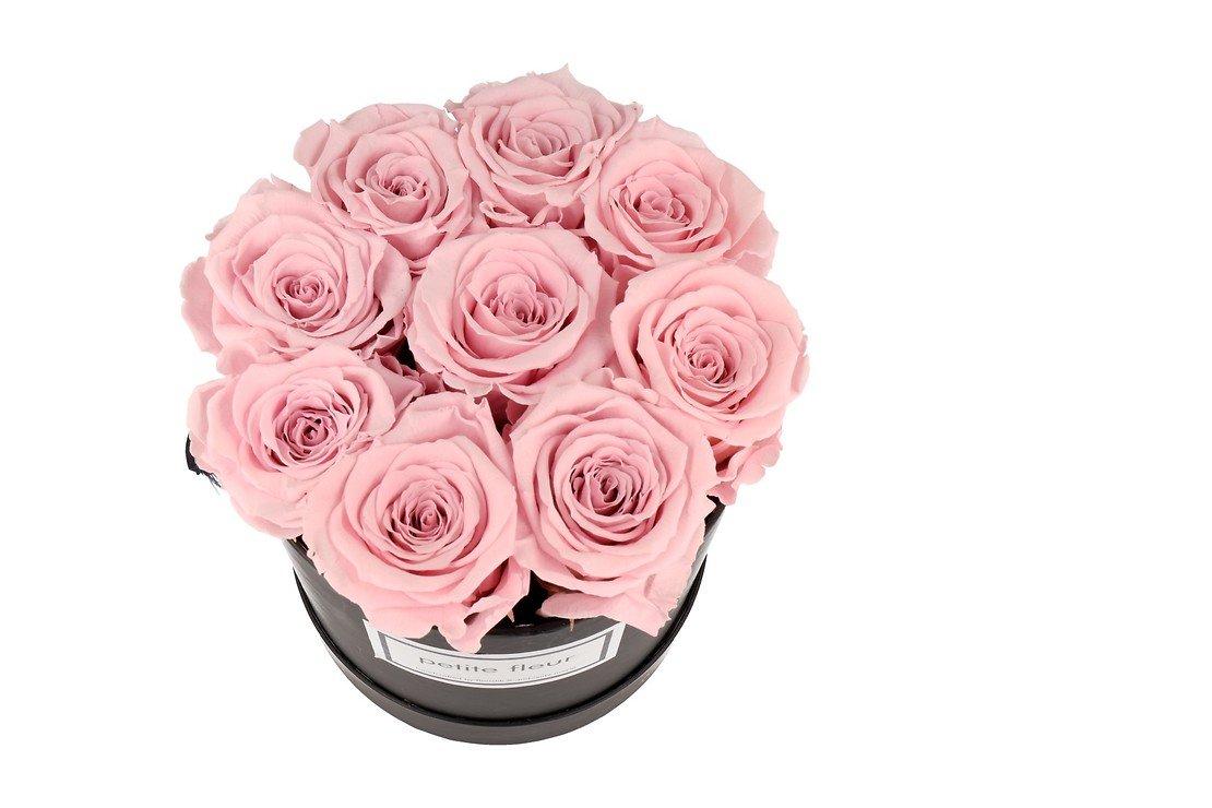 Petite Fleur Flowerbox Infinity Rosen M rund in Rosa mit 9-10 Rosen - Pic 2
