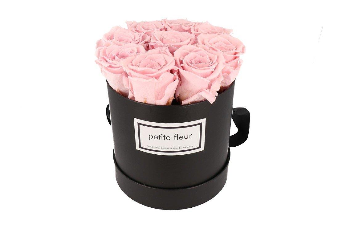 Petite Fleur Flowerbox Infinity Rosen M rund in Rosa mit 9-10 Rosen - Pic 3