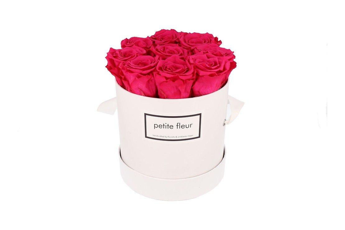 Petite Fleur Flowerbox Infinity Rosen M rund in Dunkel Pink mit 9-10 Rosen - Pic 3