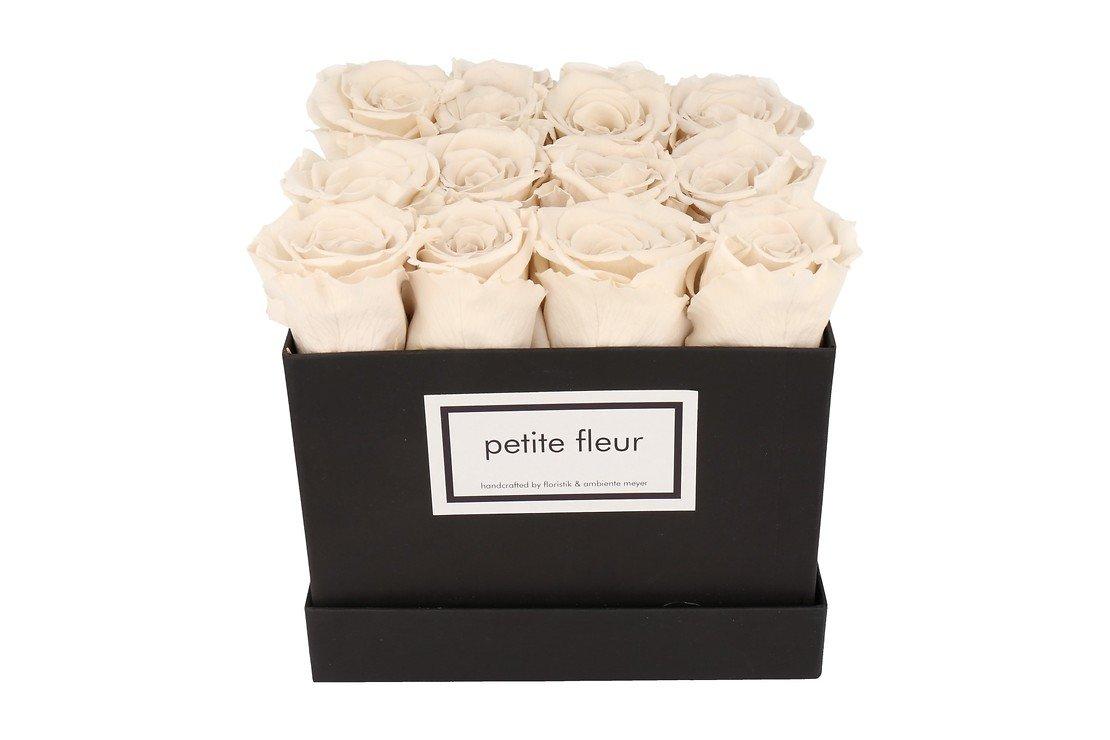 Petite Fleur Flowerbox Infinity Rosen M quadratisch in Ivory mit 10-12 Rosen - Pic 3