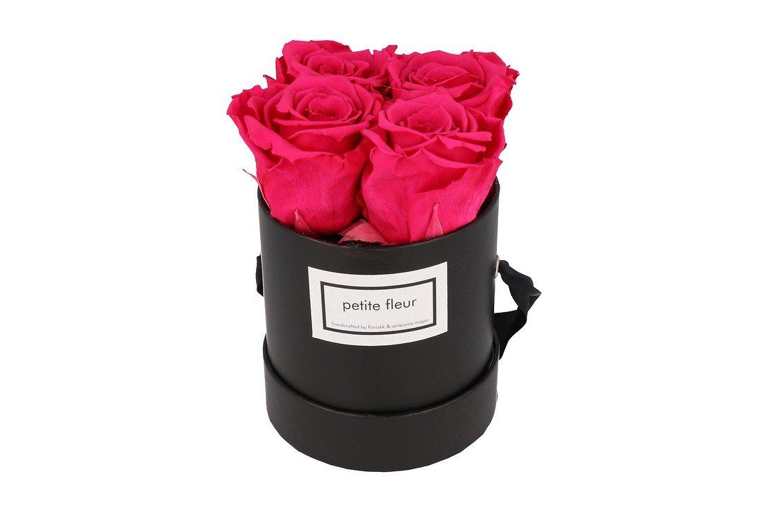 Petite Fleur Flowerbox Infinity Rosen S rund in Dunkel Pink mit 4 Rosen - Pic 3