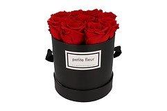 Petite Fleur Flowerbox Infinity Rosen M rund in Rot mit 9-10 Rosen