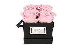 Petite Fleur Flowerbox Infinity Rosen S quadratisch in Rosa mit 4-5 Rosen