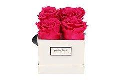 Petite Fleur Flowerbox Infinity Rosen S quadratisch in Dunkel Pink mit 4-5 Rosen