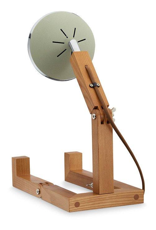 Mr. Wattson LED Tischlampe Holz Metall grün - Pic 2