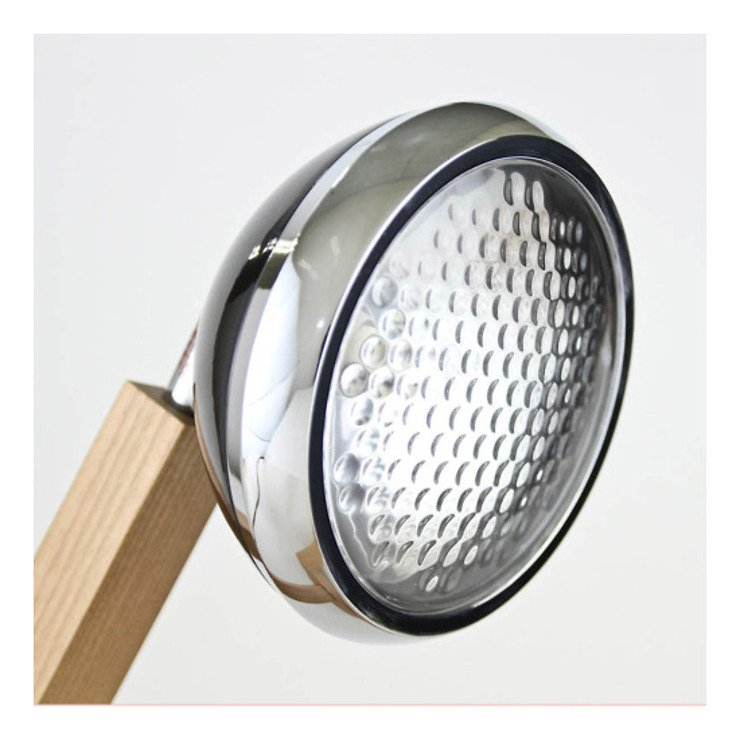 Mr. Wattson LED Tischlampe Holz Metall schwarz - Pic 4