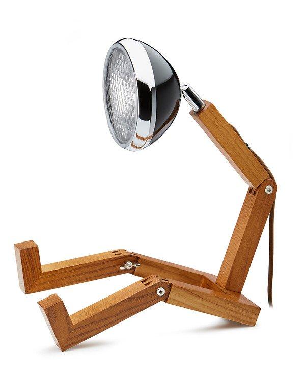 Mr. Wattson LED Tischlampe Holz Metall schwarz - Pic 1