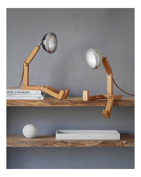 Mr. Wattson LED Tischlampe Holz Metall schwarz - Pic 5