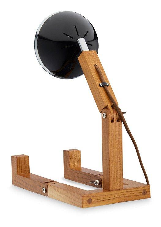 Mr. Wattson LED Tischlampe Holz Metall schwarz - Pic 2