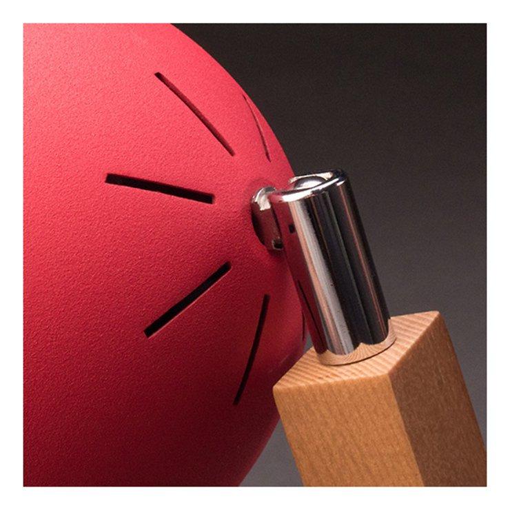 Mr. Wattson LED Tischlampe Holz Metall rot - Pic 3