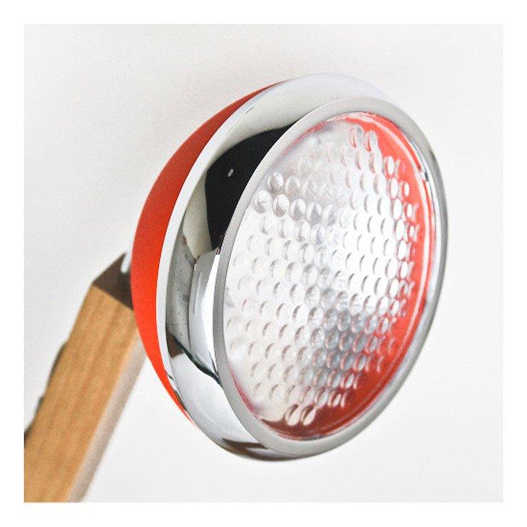 Mr. Wattson LED Tischlampe Holz Metall rot - Pic 4