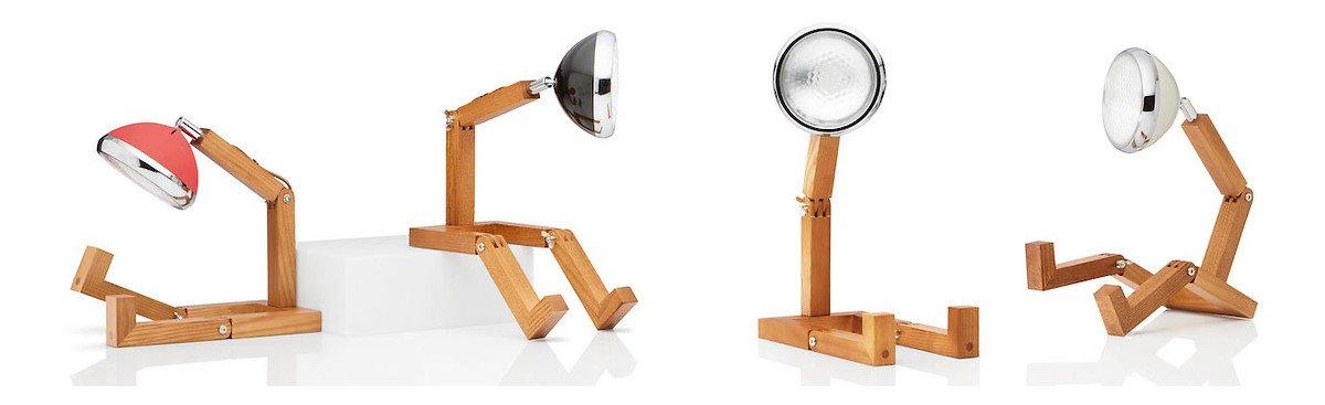 Mr. Wattson LED Tischlampe Holz Metall rot - Pic 5