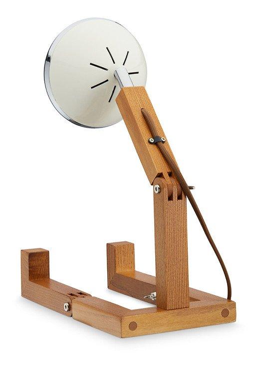 Mr. Wattson LED Tischlampe Holz Metall weiß - Pic 2