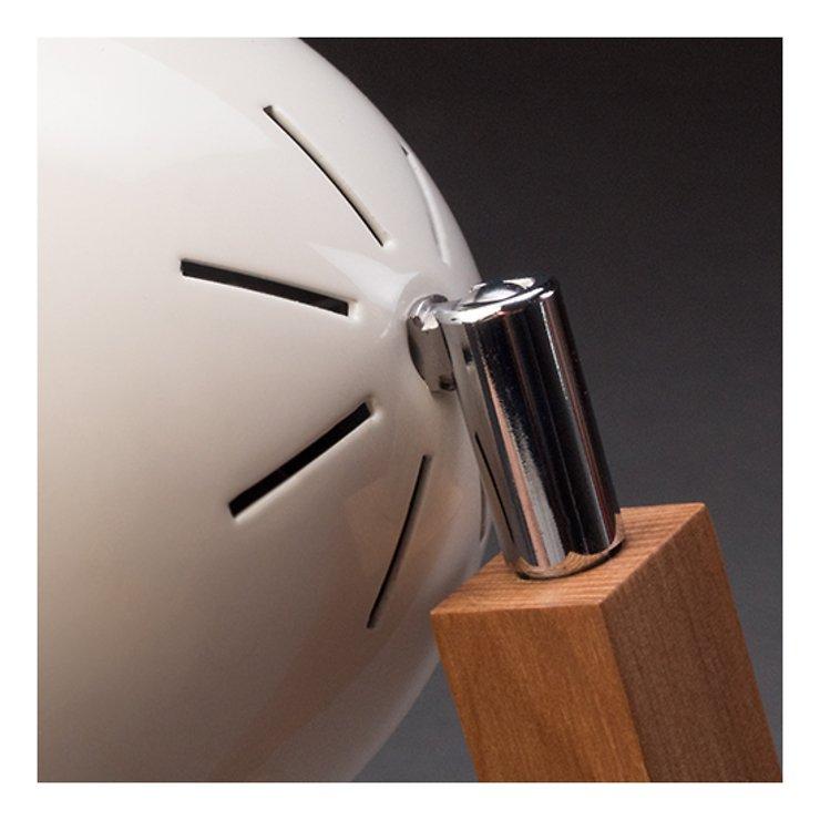 Mr. Wattson LED Tischlampe Holz Metall weiß - Pic 4