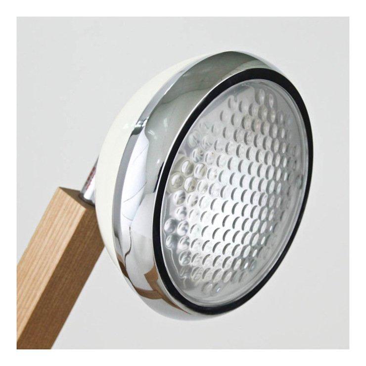 Mr. Wattson LED Tischlampe Holz Metall weiß - Pic 3