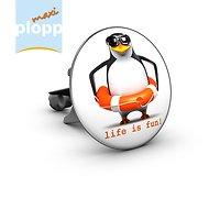 Plopp Waschbeckenstöpsel Maxi Pinguin Life Is Fun!