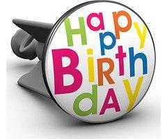 Plopp Waschbeckenstöpsel Happy Birthday