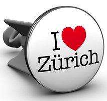 Plopp Waschbeckenstöpsel I love Zürich