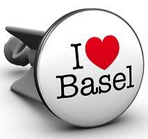 Plopp Waschbeckenstöpsel I love Basel