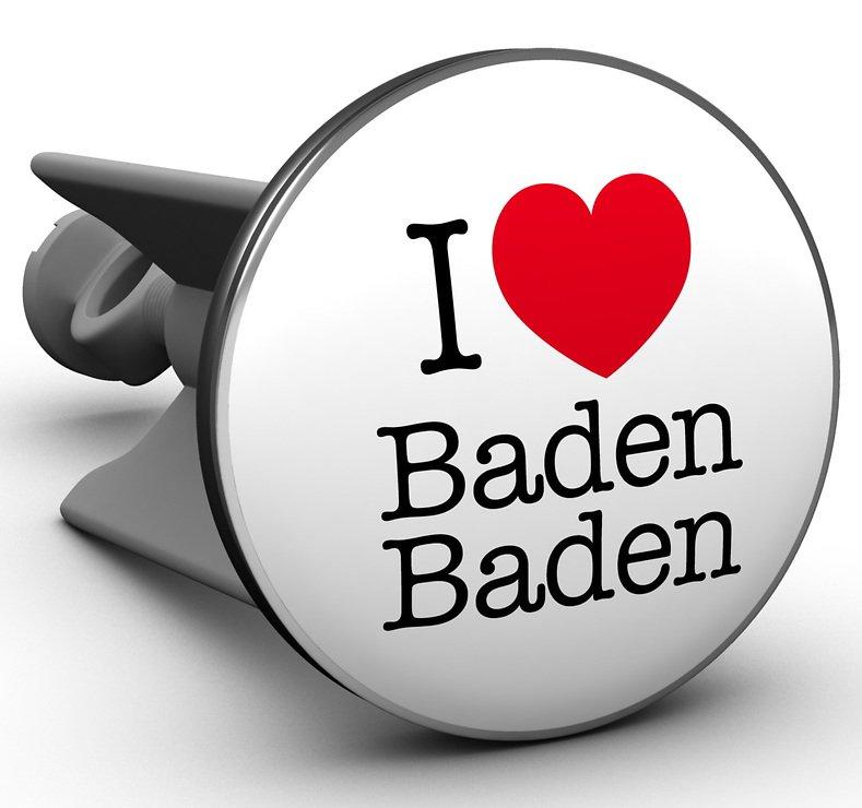 Plopp Waschbeckenstöpsel I love Baden Baden - Pic 1